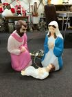 Vintage Empire Nativity Blow Molds 3PCs Baby Jesus Mary Joseph Plastic Lighted