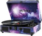 Victrola Record Player Vintage 3 Speed Bluetooth Suitcase Turntable Galaxy
