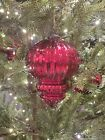 Potterybarn Mercury Glass Large Red Finial Ornament 10 Brand New