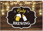 Funnytree 7X5Ft Baby Is Brewing Party Photography Backdrop For Baby Shower Birth