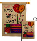 Happy Birth Day Garden Flag Birthday Celebration Gift Yard House Banner