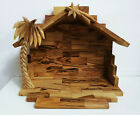 Large Nativity Scene Creche STABLE ONLY Bethlehem Olive Wood Holy Land Souvenir