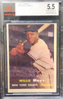1957 TOPPS WILLIE MAYS! #10 BVG 5.5 EXCELLENT+ NEW YORK GIANTS SF psa sgc 5 6 7