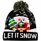 Camlinbo LED Light Up Christmas Hat Beanie Knit Cap With 6 Flash Modes Adults