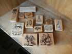 Lot of 13 Native American Themed Wood Mount Rubber Stamps