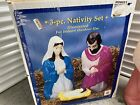 28 Nativity 3 Piece Set Blow Mold By General Foam Christmas Mary Joseph Jesus