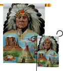 Native American Garden Flag Country Living Decorative Gift Yard House Banner