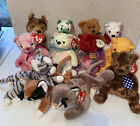 TY Beanie Babies Bears & Friends Lot of 12, Retired, Romance, Canyon, Mellow NWT