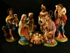 Antique Vtg Nativity 12 Figures Jesus Mary Joseph 2 Shepherds 2 Kings Italy
