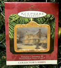 Hallmark Keepsake Ornament Thomas Kinkade Victorian Christmas 3 1999
