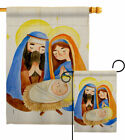 Nativity Scene Garden Flag Winter Decorative Small Gift Yard House Banner