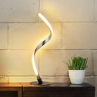 Albrillo Spiral Design LED Table Lamp Dimmable Desk Lamp Touch Button Warm Wh
