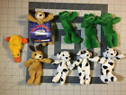 Vintage Pocket Bean Pals Lot Of 8 1996 Kellytoy Beanie Baby Rover Frog Duck Dog