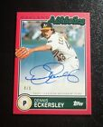 2020 Topps Brooklyn Collection RED Dennis Eckersley HOF Autograph #ed 5 Low
