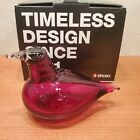 Iittala Finland Oiva Toikka 1972 Glass Bird Little Tern Cranberry Red 110 x 75