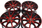 15 red Wheels xB xA Vigor Mazda2 Del Sol CRX Tiburon Yaris CL 4x100 4x1143 Rims