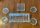 Vintage Cigarette Holder Glass Table Ashtray Set Of 4 Ashtrays 6 Pcs Antique