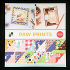 DCWV Premium Stack Printed Cardstock Paw Prints 36 Double sided Sheets 12x12