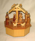 Lego 4 1 2 x 6 Wooden Nativity Musical Carousel Plays Silent Night