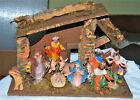 Vintage Made in Italy 10 piece Nativity set with Stable 14 x 65 x 95 tall