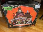 Lemax Spooky Town Gas 'N Ghoul #15194, Halloween Village Lighted Retired Works