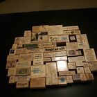Lot of 59 Wood Rubber Stamps Sayings Words Holiday Inspirational Phrases