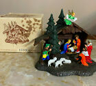 Vintage Miniature Nativity 1595 Germany Hard Plastic Glitter NIB