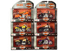 Harley Davidson Motorcycles 6 piece Set Series 38 1 18 Diecast Models by Maisto