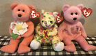 """TY Beanie Baby's Set """"Dearly"""" Mom & """"Mum"""" & """"Bloom"""" Beanie Babies With Tags NEW"""