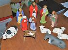 Wonderful antique 12 piece Nativity set marked Germany