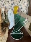 Large 15 Stained Glass Christmas Nativity Set Angel And Star Farmhouse Decor
