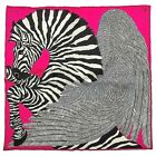Hermes Pegasus Zebra Scarf RARE PINK COLOR GORGEOUS Perfect Condition