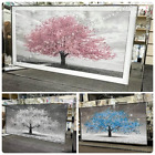 Pink white blue leaves blossomed tree pictures with liquid art  mirror frames