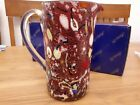 Murano Milleflori Glass Jug Venezia Murano Glass Caraffe pitcher Red multi