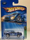 2005 Hot Wheels Treasure Hunt 71 Mustang Mach 1 Blue W Blue flames Real Rider