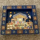 Kurt Adler J3767 Wooden Nativity Advent Calendar with 24 Magnetic Piece Open Box