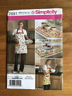 SIMPLICITY SEWING PATTERN 2691 TABLE RUNNER PLACE MATS APRON IN FOUR SIZES S XL