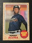 2017 TOPPS HERITAGE MINOR LEAGUE RONALD ACUNA JR. ROOKIE CARD #202 RC BRAVES