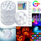1 10pcs Submersible LED Bulb Underwater Light Fountain Swimming Pool Lamp Remote