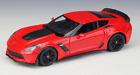Welly 124 2017 Chevrolet Corvette Z06 Diecast Model Sports Racing Car Red