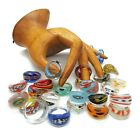 Glass Murano Style Ring Bulk Lot of 510 Bohemian Jewellery Party Favours