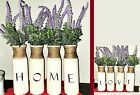 4 Piece Vase Home Love with Lavender Florals Home Decor Vase Set Farmhouse