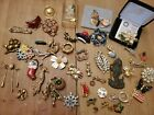 Lot Of Brooches Brooch Collection Signed Unique Beads