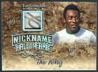 Pele 2019 Leaf In the Game Used Prime Jersey Partial Auto Nickname 1 2 Brazil