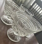 Vintage Crystal Cut Glass Cocktail Glasses Set Of 4