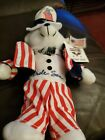 Uncle Sam Postal Stamp Bear Beanie 11
