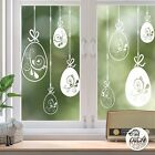 10x Swirl Easter Egg Window Decals Mixed static cling reusable not sticker