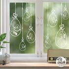 10x Swirl Easter Egg Window Decals Clear static cling reusable not sticker