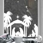 Christmas Nativity Scene Window Decal static cling reusable not sticker