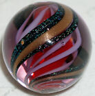 Artist Made Marble Fulton Parker Studio Tinted Glass Lutz  Glitter Solid core